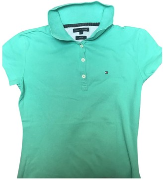 Tommy Hilfiger Turquoise Cotton Knitwear for Women