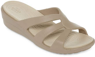 Crocs Womens Sanrah Wedge Sandals