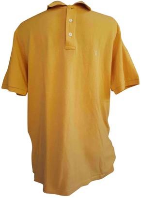 Saint Laurent Orange Cotton Polo shirts