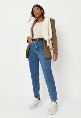 Missguided Blue High Waisted Rigid Mom Jeans