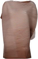 Issey Miyake asymmetric stripe blouse - women - Polyester - 2