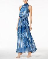 Calvin Klein Petite Chiffon Printed Maxi Dress