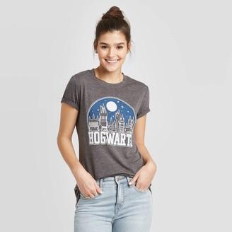 Women's Harry Potter Hogwarts Short Sleeve Graphic T-Shirt (Juniors') - Charcoal Heather