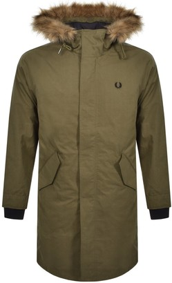 Fred Perry Full Zip Hooded Parka Green