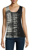 Neiman Marcus Cashmere Collection Superfine Skyfall Cashmere Tank