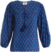 Figue Isadora ikat-print cotton-blend blouse