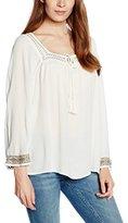 Vero Moda Women's Claudia 7/8 Sleeve Shirt with Embroidered Trim