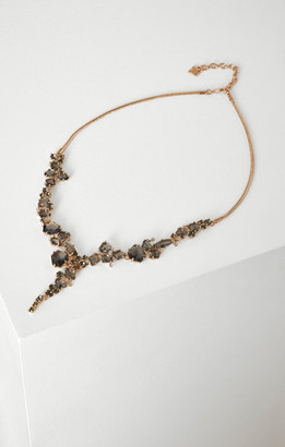 BCBGMAXAZRIA Crystal Cluster Necklace