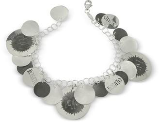 Rosato Sterling Silver Peace Cut-Out Charms Bracelet
