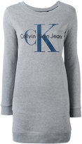 Calvin Klein Dovalina logo sweatshirt dress - women - Cotton - M
