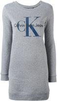 Calvin Klein Dovalina logo sweatshirt dress - women - Cotton - XS