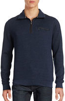 Bugatti Herringbone Half-Zip Mock Sweater