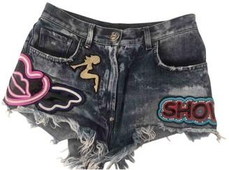Philipp Plein Blue Denim - Jeans Shorts for Women