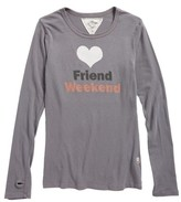 T2 Love Girl's Friend Weekend Graphic Tee