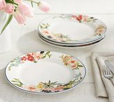 Pottery Barn Floral Rim Dinner Plate, Set of 4