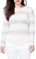 Rachel Roy Plus Size Women's Sheer Stretch Lace Top