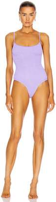 Hunza G Pamela Swimsuit in Lilac | FWRD