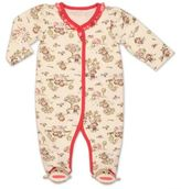 Baby Starters Girl Sock Monkey Toile Footie