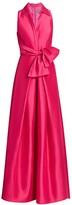 Theia Zibeline Shirt Ball Gown