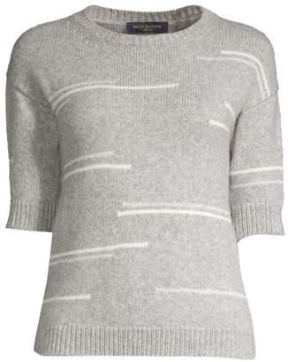 Piazza Sempione Short Sleeve Lurex Stripe Knit Top