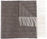 DSQUARED2 striped fringe scarf
