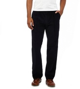 Maine New England Big And Tall Navy Cord Active Waistband Trousers