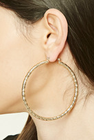 Forever 21 FOREVER 21+ Etched Hoop Earrings