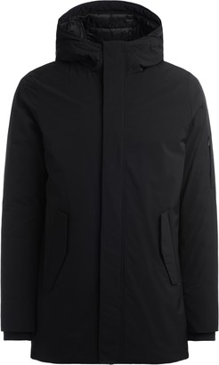 Museum Austen Parka Made Of Black Fabric With Hood.