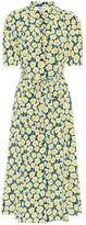 Diane von Furstenberg Floral silk midi shirt dress