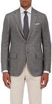 Isaia Men's Sanita Checked Wool-Silk Two-Button Sportcoat