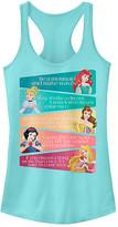Fifth Sun Women's Tank Tops CANCUN - Cancun Motivational Disney Princess Tank - Juniors