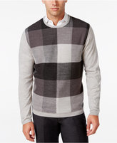 Ryan Seacrest Distinction Men's Plaid-Front Sweater