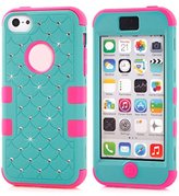 Doinshop Hard Silicone Shockproof Rubber Hybrid Case Cover Skin for Iphone 5c