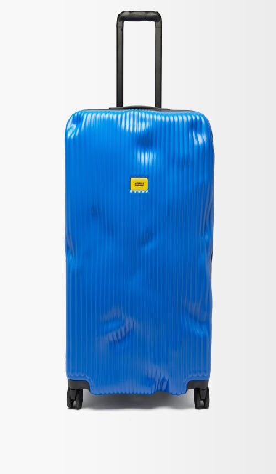 CRASH BAGGAGE Stripe 79cm Suitcase - Blue