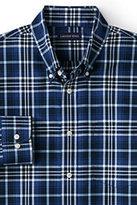 Classic Men's Big & Tall Traditional Fit No Iron Twill Shirt-Eggshell Tattersall