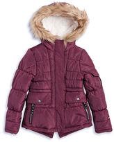 London Fog Girls 7-16 Faux Fur Trimmed Parka
