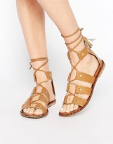 Park Lane Gladiator Leather Flat Sandals