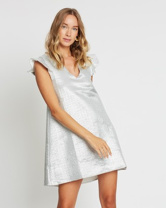 LENNI the label - Women's Silver Mini Dresses - Calcite Mini Dress - Size One Size, S at The Iconic