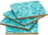Mela Artisans Congo in Turquoise Coasters