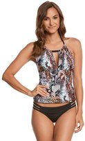 Kenneth Cole Pure Instincts High Neck Keyhole Tankini Top 8158467