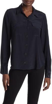 Joie Eastona Silk Button Front Blouse