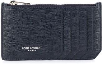 Saint Laurent Fragments logo stamp cardholder