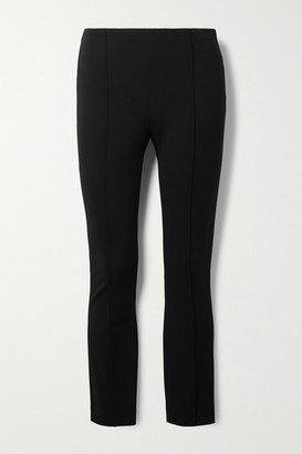 The Row Cosso Stretch-ponte Skinny Pants - Black