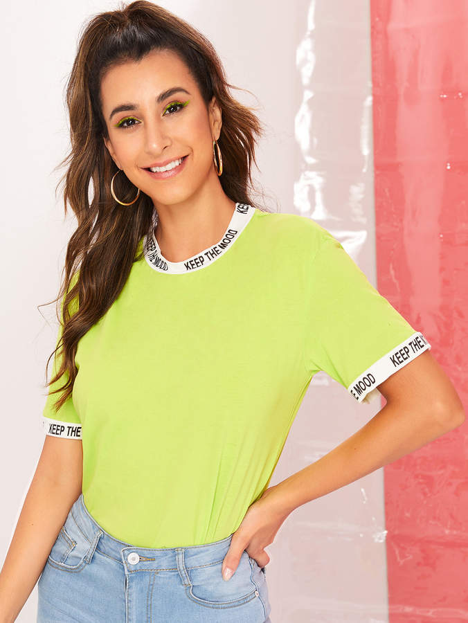 a04fcdc258 Print T Shirt Ringer Tee - ShopStyle