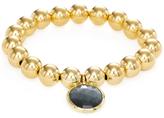 Meira T Brass Bead & Labradorite Stretch Bracelet