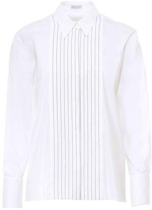 Brunello Cucinelli Stretch High Closure Shirt