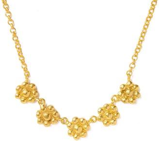 Ottoman Hands Gulzar Gold Flower Necklace