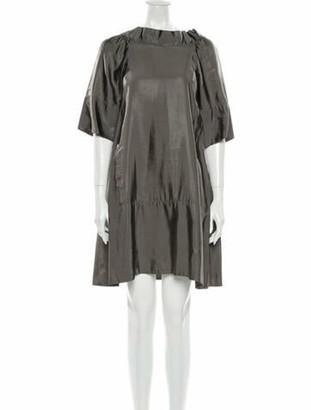 Marni Bateau Neckline Mini Dress Grey
