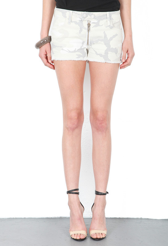TEXTILE Elizabeth and James Cooper Camo Short in White Camo