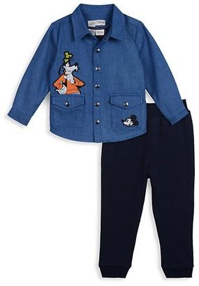Disney x Pippa & Julie Baby Boy's 3-Piece Character Patch Jacket, Tank Top Pants Set